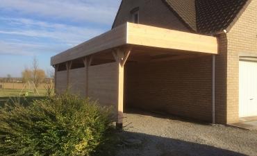 carport en bois sur mesure dans le nord 59. Black Bedroom Furniture Sets. Home Design Ideas